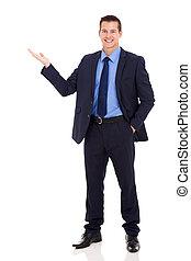 negócio, apresentando, executivo