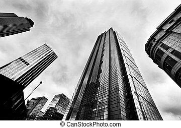 negócio, arquitetura, arranha-céus, em, londres, a, reino unido