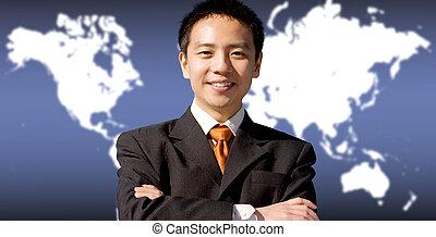 negócio asiático, homem