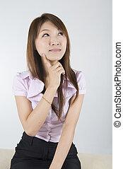 negócio asiático, mulheres