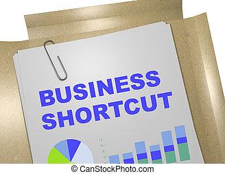 negócio, atalho, conceito