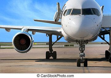 negócio, avião