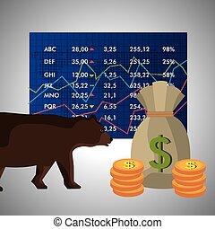 negócio, bolsa de valores
