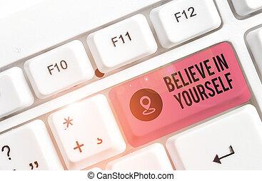 negócio, branca, escrita, experiência., tudo, foto, yourself., conselho, lata, pedaço, mostrando, pc, acreditar, nota papel, acima, tu, showcasing, teclado, comum