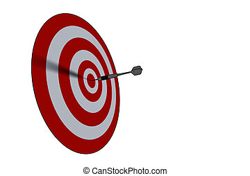 negócio, bullseye, concept/succes, -