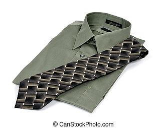 negócio, camisa laço