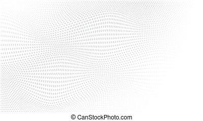 negócio, cartaz, monocromático, óptico, halftone, padrão, abstratos, ponto, onda, wave., cover., textura, pontilhado, cartão, locais, vetorial, grunge, modernos, experiência., futurista