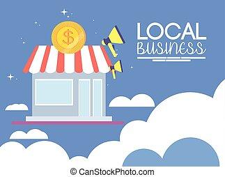 negócio cidade, local, promoção