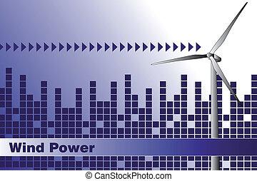 negócio, cobertura, energia, -, verde, folheto, ou, cartão