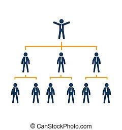 negócio, companhia, árvore, mapa, organização, corporate.