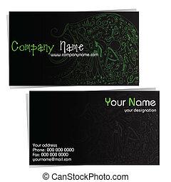 negócio, companhia, cartão, beleza