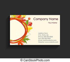 negócio, companhia, vetorial, cartão, ilustração