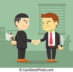 negócio, competição, conceito