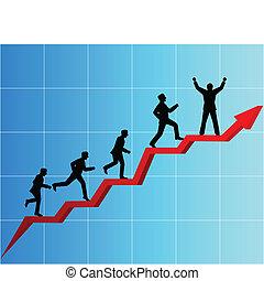 negócio, competição, pessoas