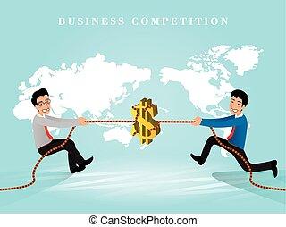 negócio, competição