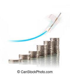 negócio, conceito financeiro