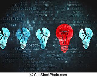 negócio, concept:, fundo, digital