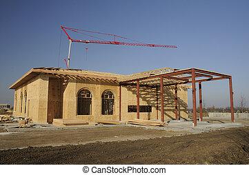 negócio, construção