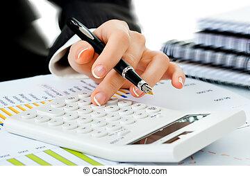 negócio, contabilidade