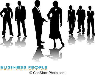 negócio, conversa