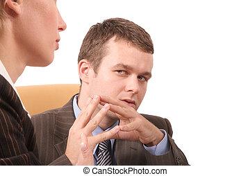 negócio, conversatio