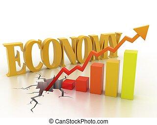 negócio, crescimento financeiro, conceito