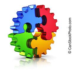 negócio, criatividade, e, sucesso, conceito