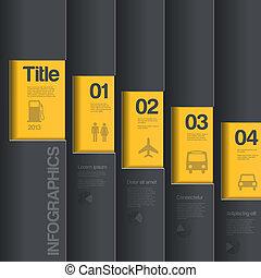 negócio, criativo, desenho, infographics, template., style.