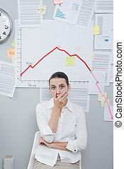 negócio, crise, conceito
