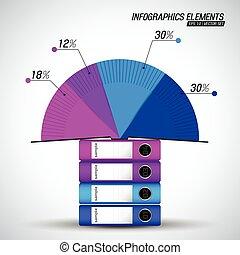 negócio, diagrama, modelo, infographics