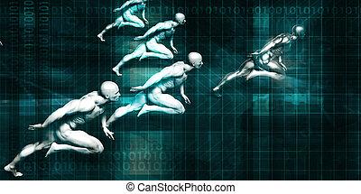negócio digital bancário
