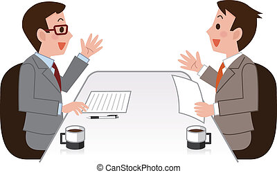 negócio, discussão