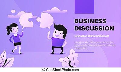 negócio, discussion.