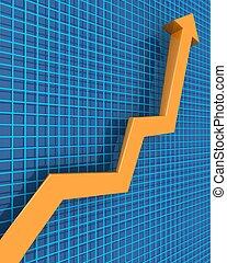 negócio, e, crescimento financeiro, conceito