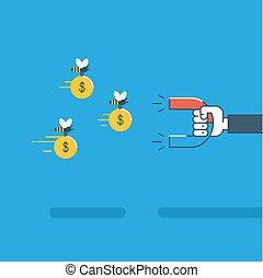 negócio, e, finanças, conceito