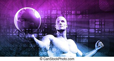 negócio, e, futuro, tecnologia, conceito