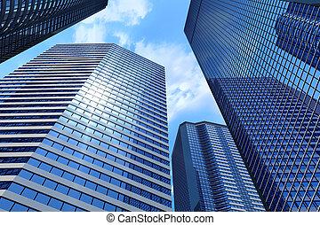 negócio, edifícios