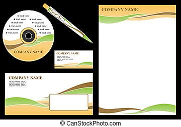 negócio, editable, set., -, vetorial, fácil, papelaria, identidade incorporada, modelo