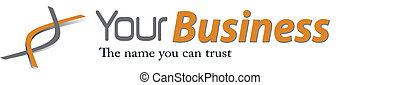 negócio, elegante, logotipo