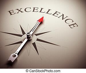 negócio, excelência, conceito