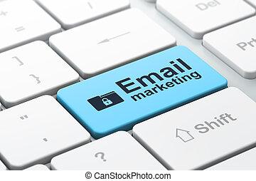 negócio, fechadura, computador teclado, fundo, marketing,...
