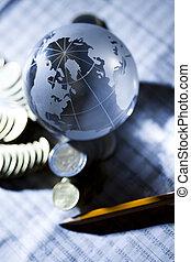 negócio, &, financeiro, indicadores
