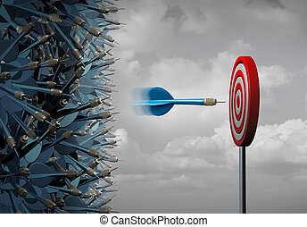negócio, foco, sucesso