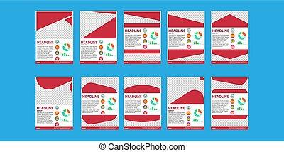 negócio, folheto, desenho, template., voador, isolado, branco, marketing, esquema, cobertura, coroprate, presentation., criativo, folha, vector., vazio, convite, folheto, booklet., isolado, geomã©´ricas, companhia, página