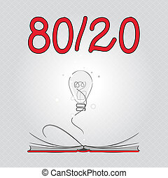 negócio, foto, mostrando, escrita, nota, sparsity, princípio, estatístico, factor, showcasing, 80, pareto, dados, distribuição, 20.