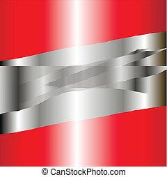 negócio, fundo, vermelho, prata