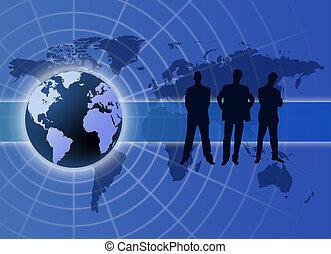 negócio global, comunicação