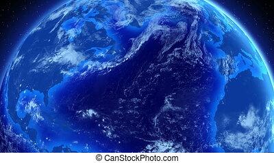 negócio, global, earth., girar
