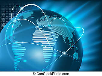 negócio global, internet