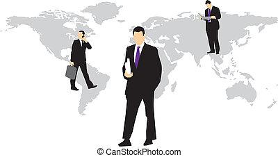 negócio global, pessoas
